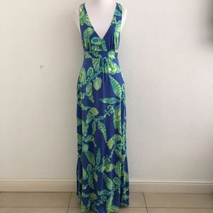 Lilly Pulitzer V Neck Sleeveless Maxi Dress XS